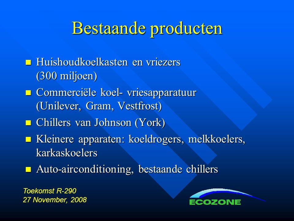 Bestaande producten Huishoudkoelkasten en vriezers (300 miljoen)