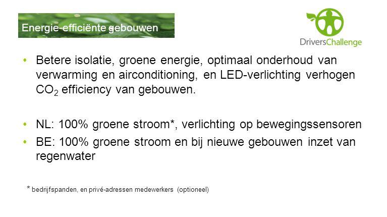 NL: 100% groene stroom*, verlichting op bewegingssensoren