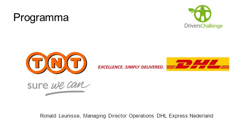 Programma Ronald Leunisse, Managing Director Operations DHL Express Nederland