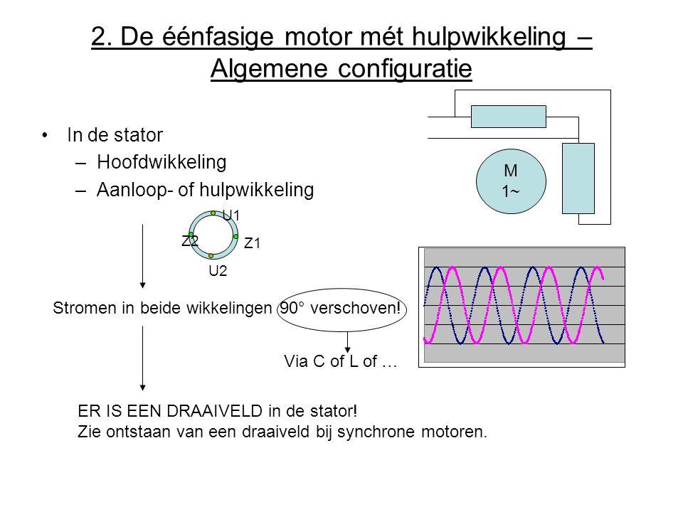 2. De éénfasige motor mét hulpwikkeling – Algemene configuratie