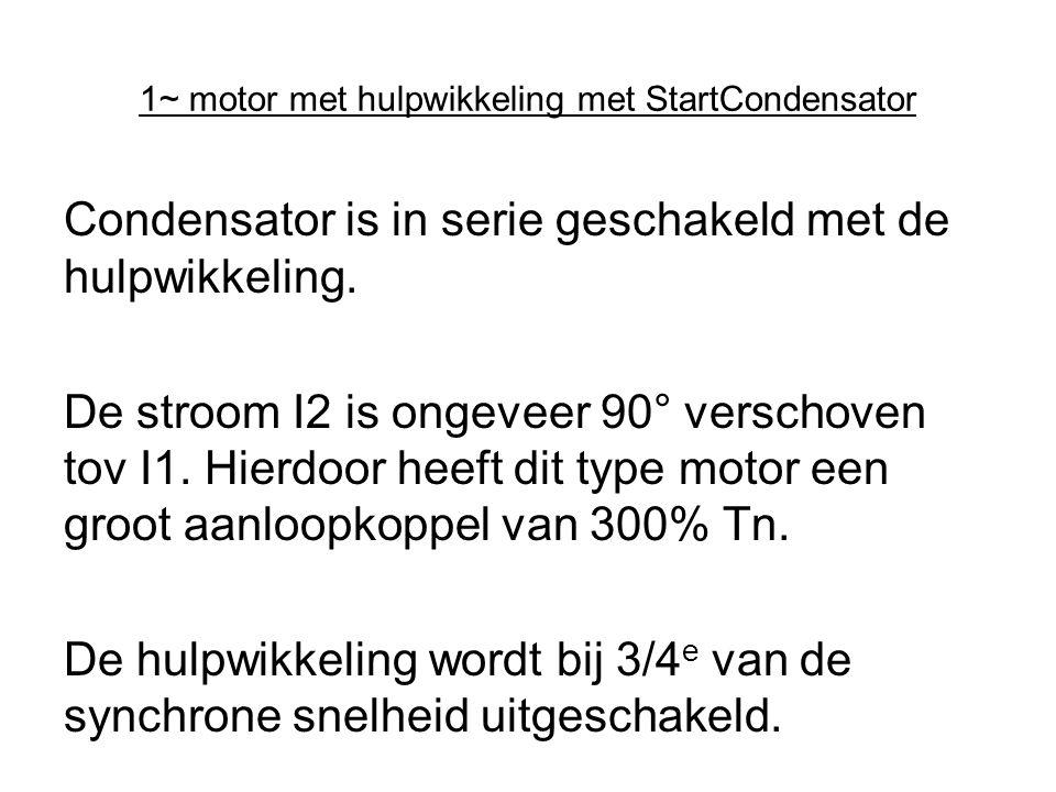1~ motor met hulpwikkeling met StartCondensator