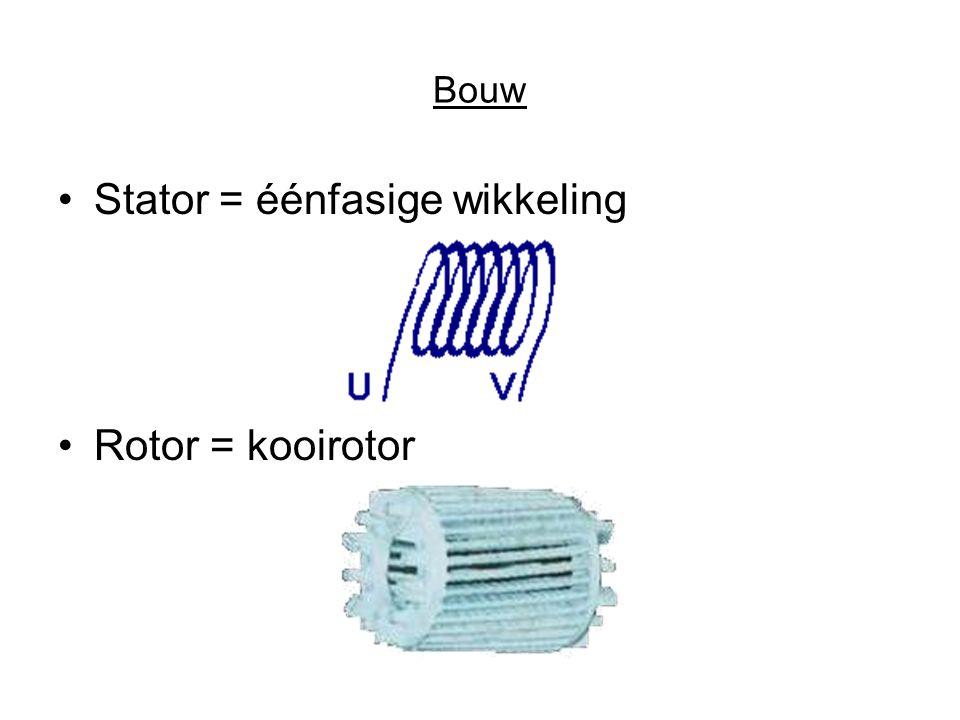 Stator = éénfasige wikkeling