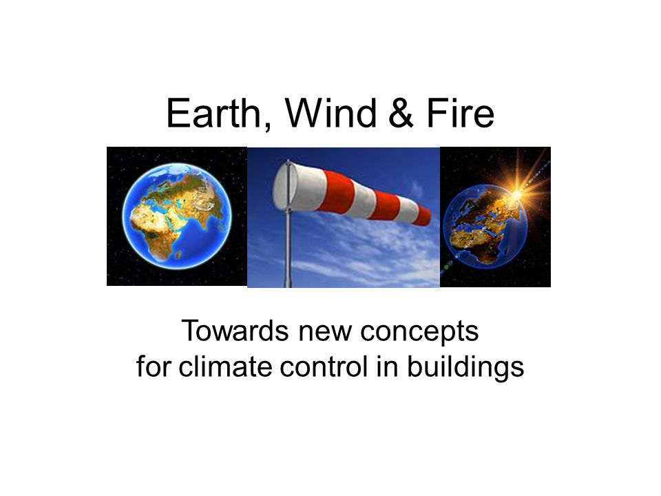 for climate control in buildings