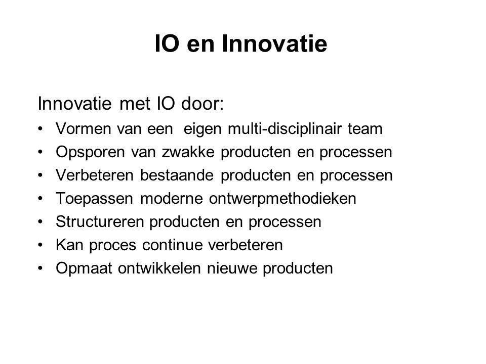 IO en Innovatie Innovatie met IO door: