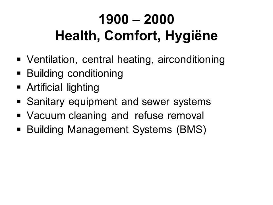 1900 – 2000 Health, Comfort, Hygiëne