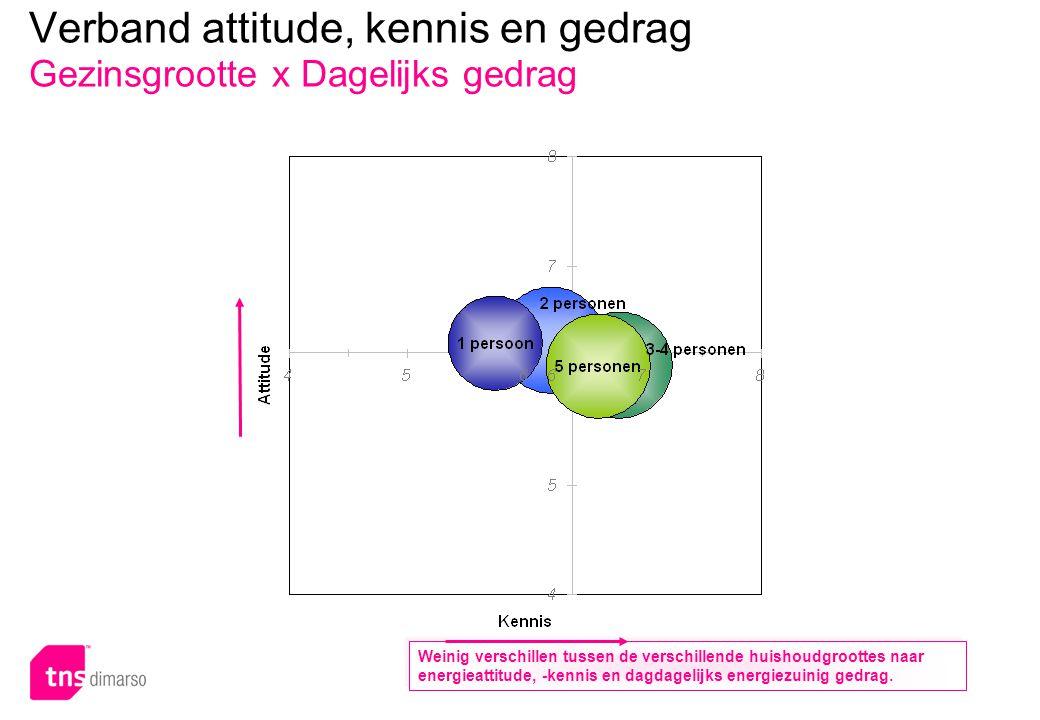 Verband attitude, kennis en gedrag Gezinsgrootte x Investeringsgedrag