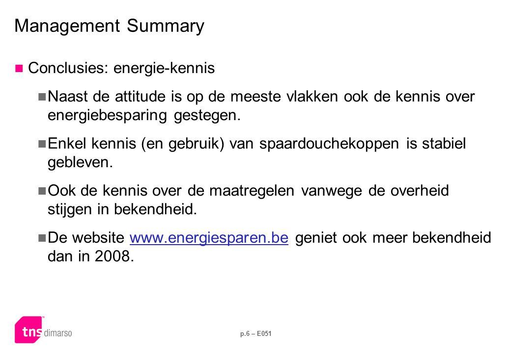 Management Summary Conclusies: dagdagelijks energie-gedrag
