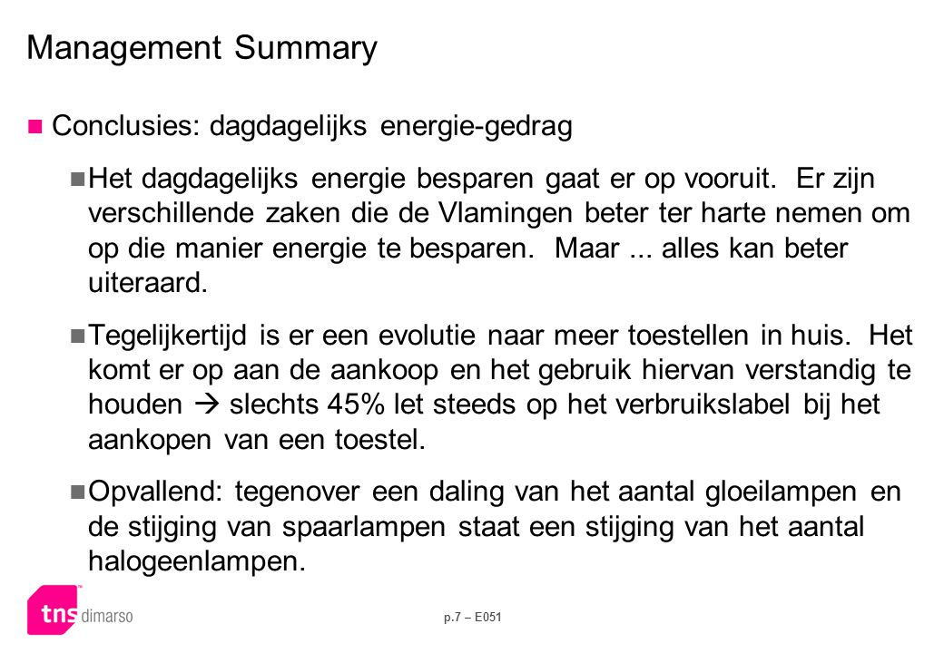 Management Summary Conclusies: energiegericht investeringsgedrag