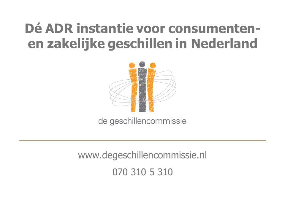 Dé ADR instantie voor consumenten- en zakelijke geschillen in Nederland