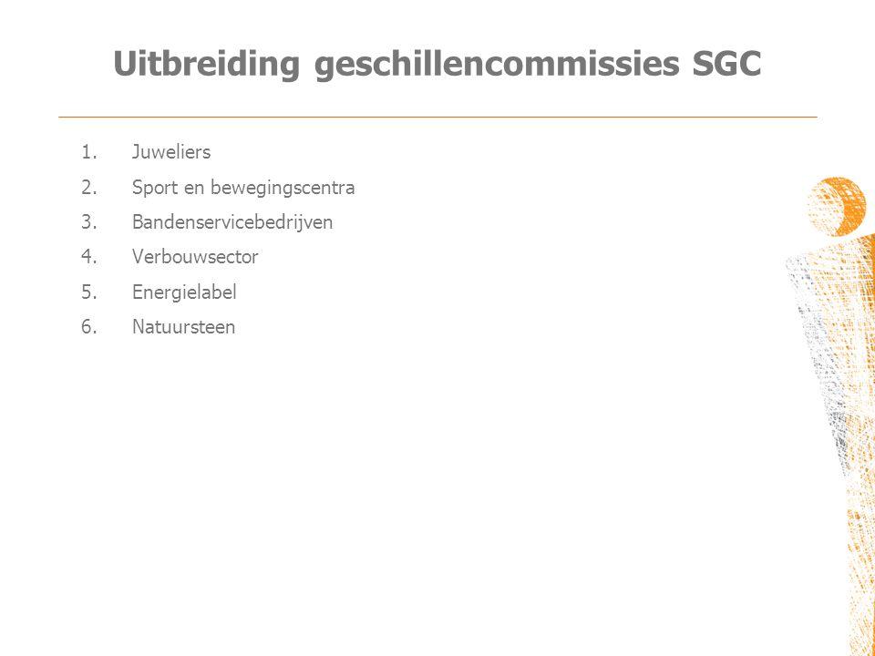 Uitbreiding geschillencommissies SGC