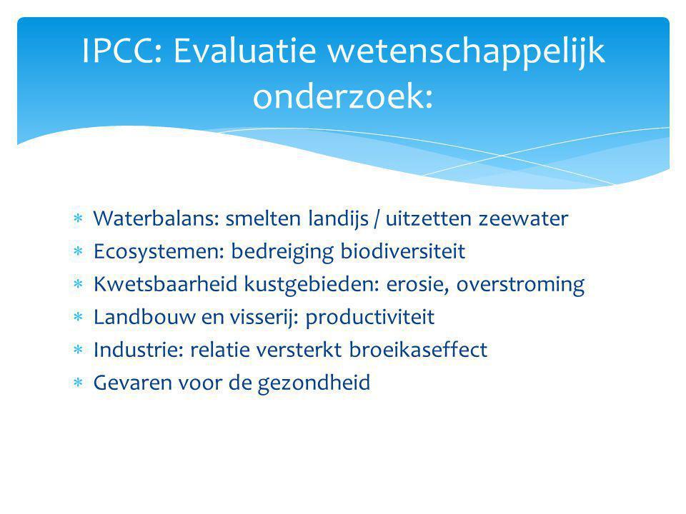 IPCC: Evaluatie wetenschappelijk onderzoek: