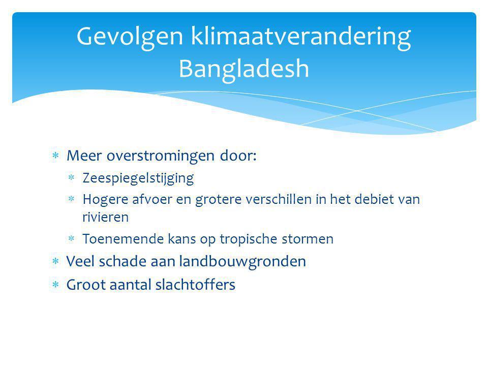 Gevolgen klimaatverandering Bangladesh