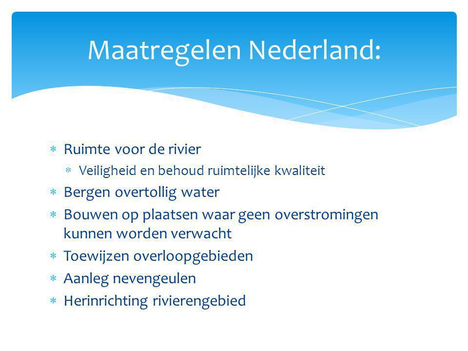 Maatregelen Nederland: