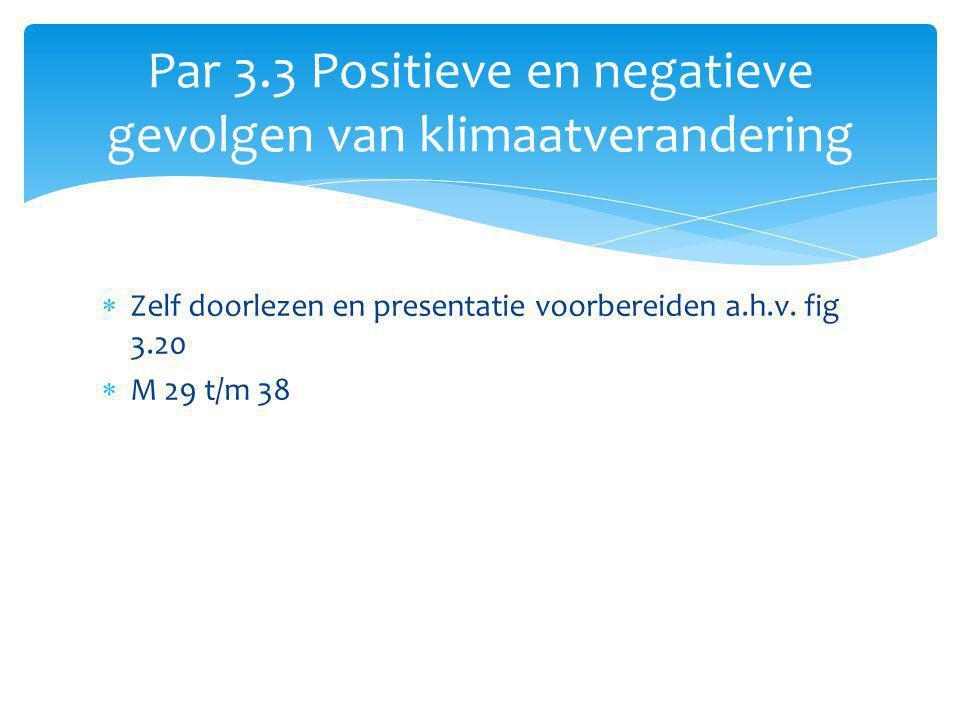 Par 3.3 Positieve en negatieve gevolgen van klimaatverandering