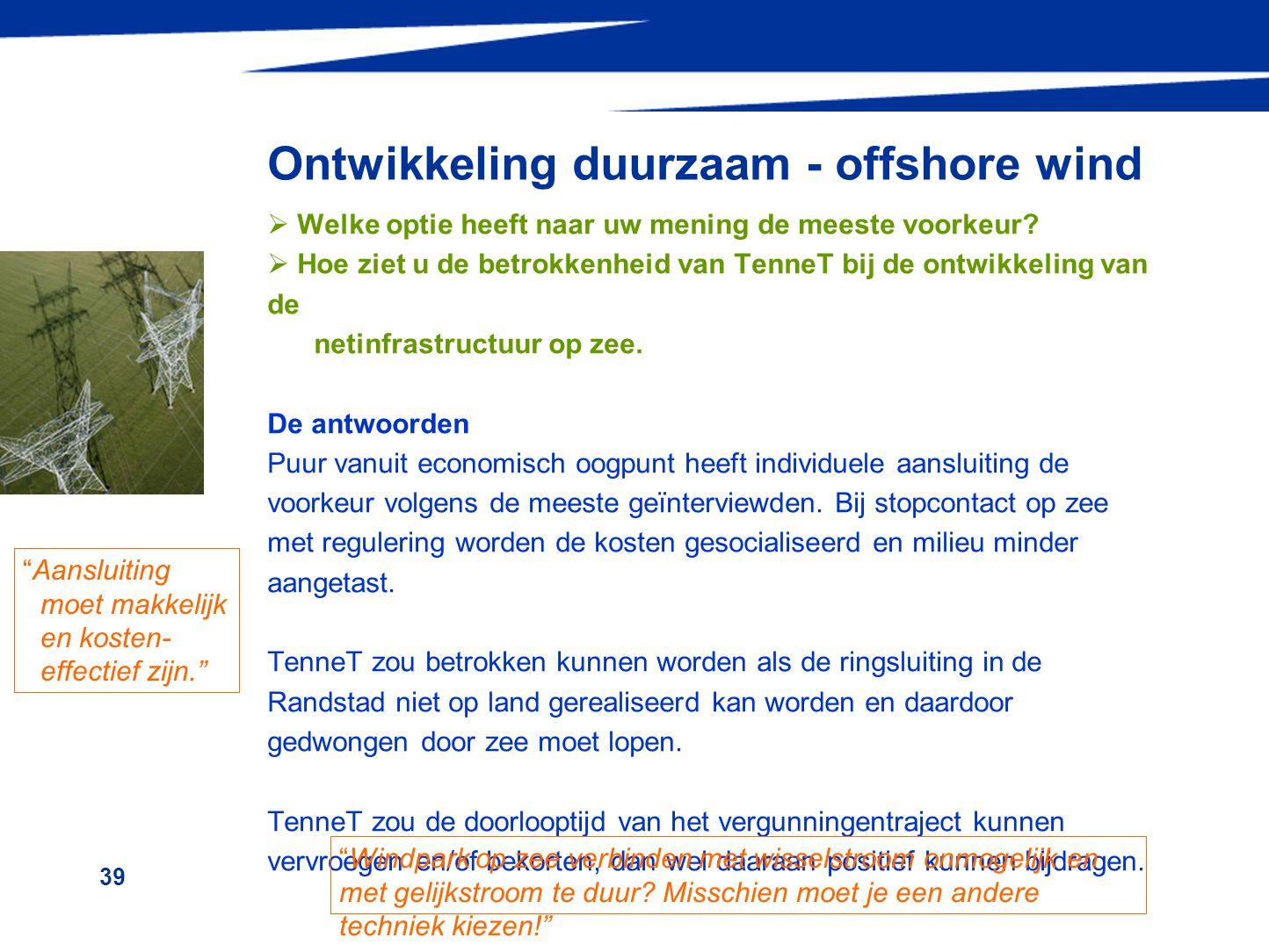 Ontwikkeling duurzaam - offshore wind