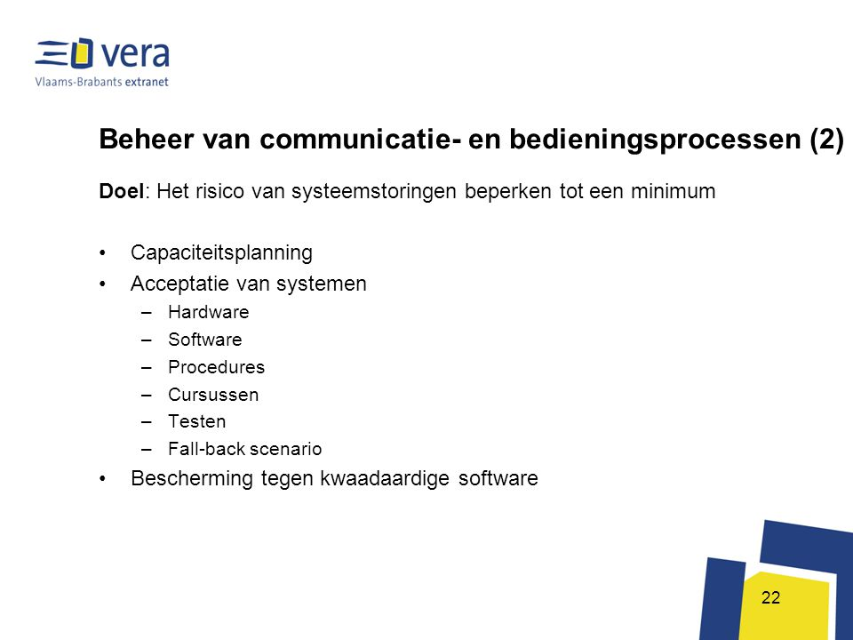 Beheer van communicatie- en bedieningsprocessen (2)