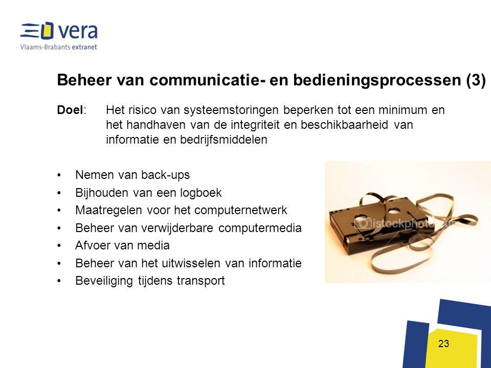 Beheer van communicatie- en bedieningsprocessen (3)