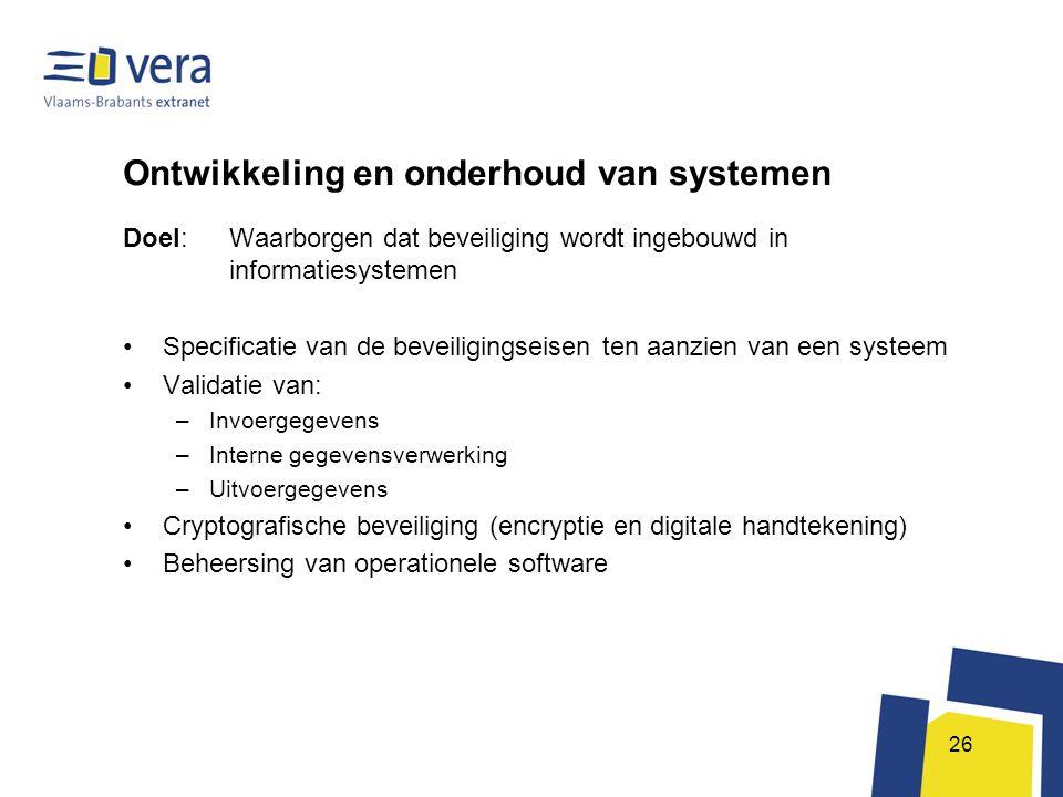 Ontwikkeling en onderhoud van systemen