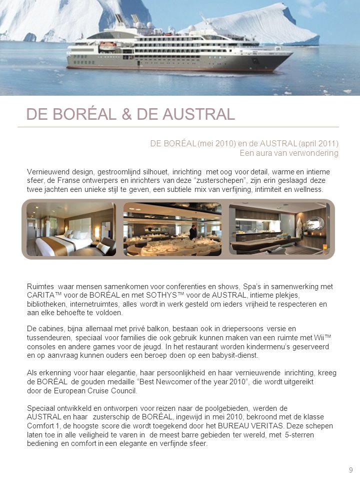 DE BORÉAL & DE AUSTRAL DE BORÉAL (mei 2010) en de AUSTRAL (april 2011)