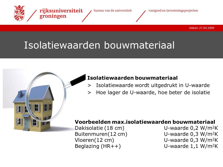 Isolatiewaarden bouwmateriaal
