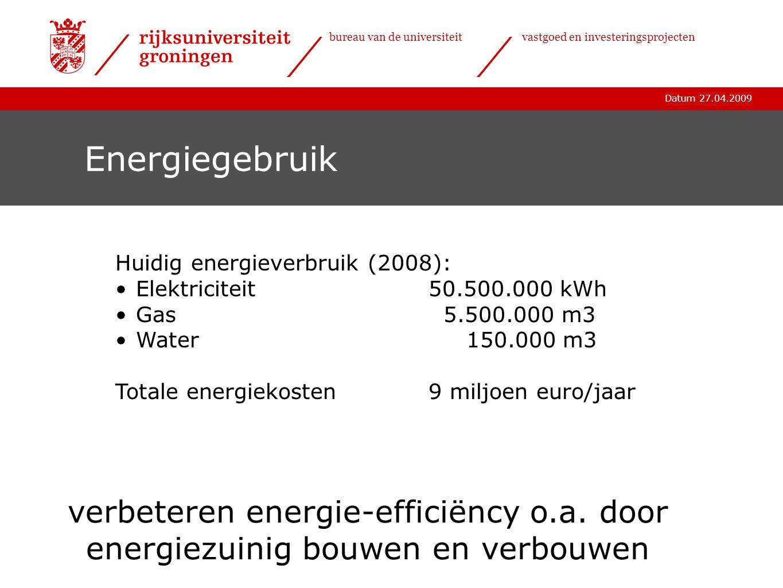 Energiegebruik verbeteren energie-efficiëncy o.a. door