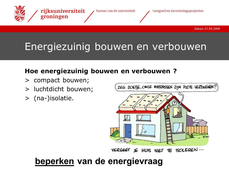 Energiezuinig bouwen en verbouwen