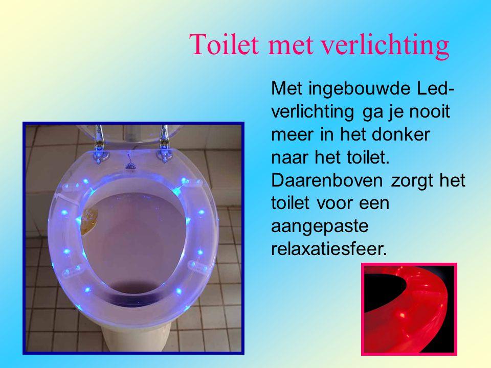Toilet met verlichting