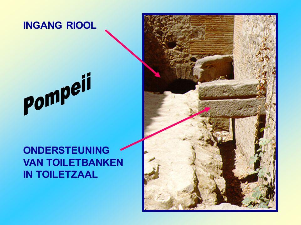 INGANG RIOOL Pompeii ONDERSTEUNING VAN TOILETBANKEN IN TOILETZAAL