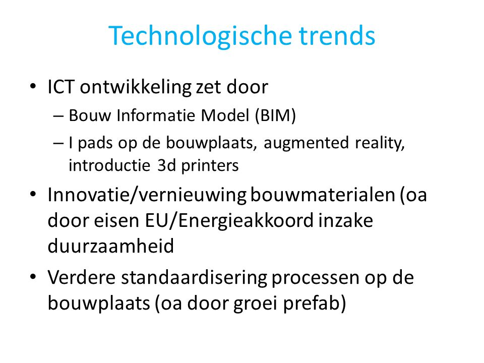 Technologische trends