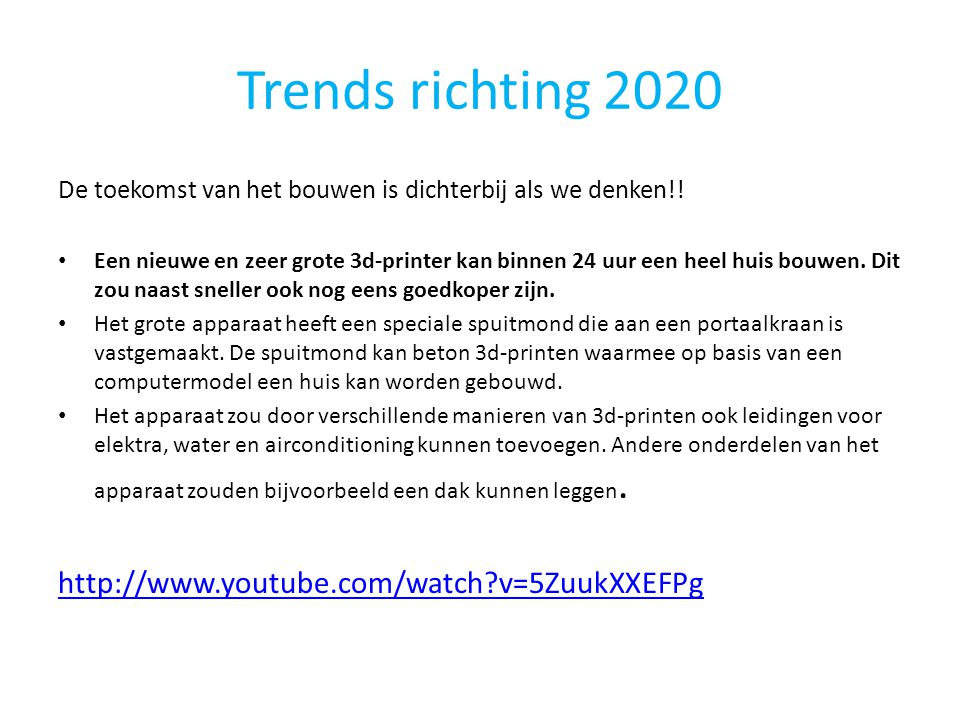 Trends richting 2020 http://www.youtube.com/watch v=5ZuukXXEFPg