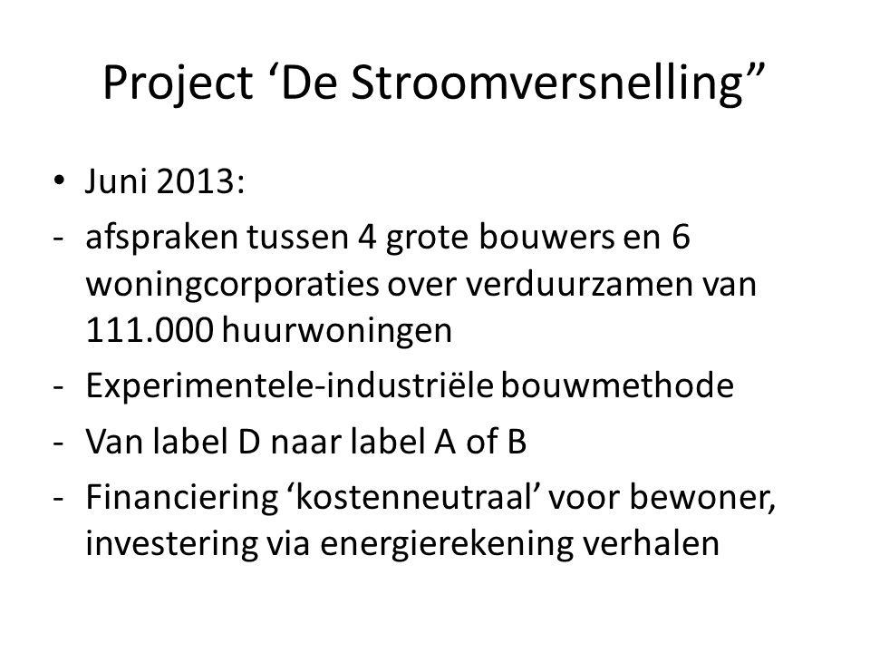 Project 'De Stroomversnelling