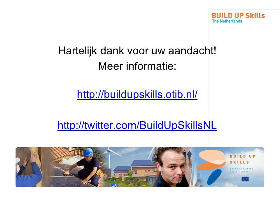 Hartelijk dank voor uw aandacht. Meer informatie: http://buildupskills
