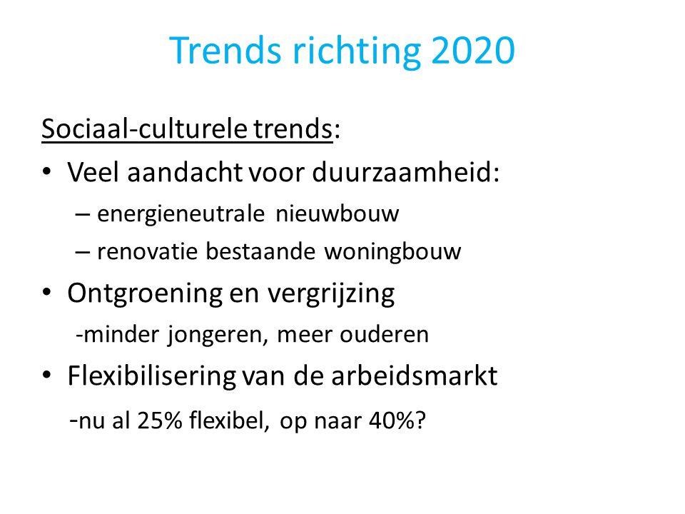 Trends richting 2020 Sociaal-culturele trends: