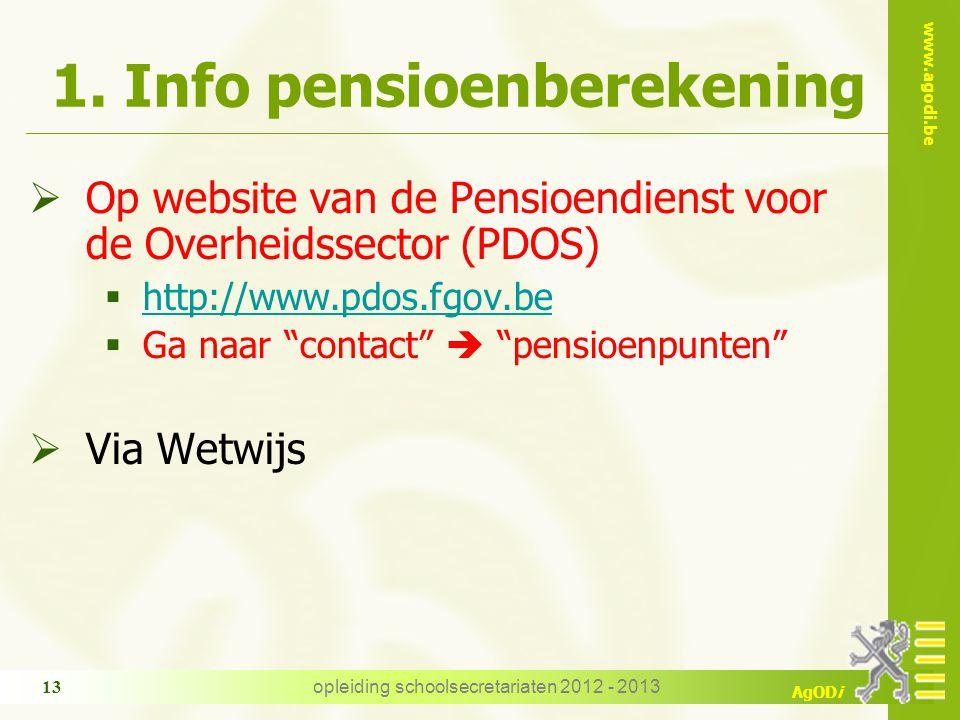 1. Info pensioenberekening