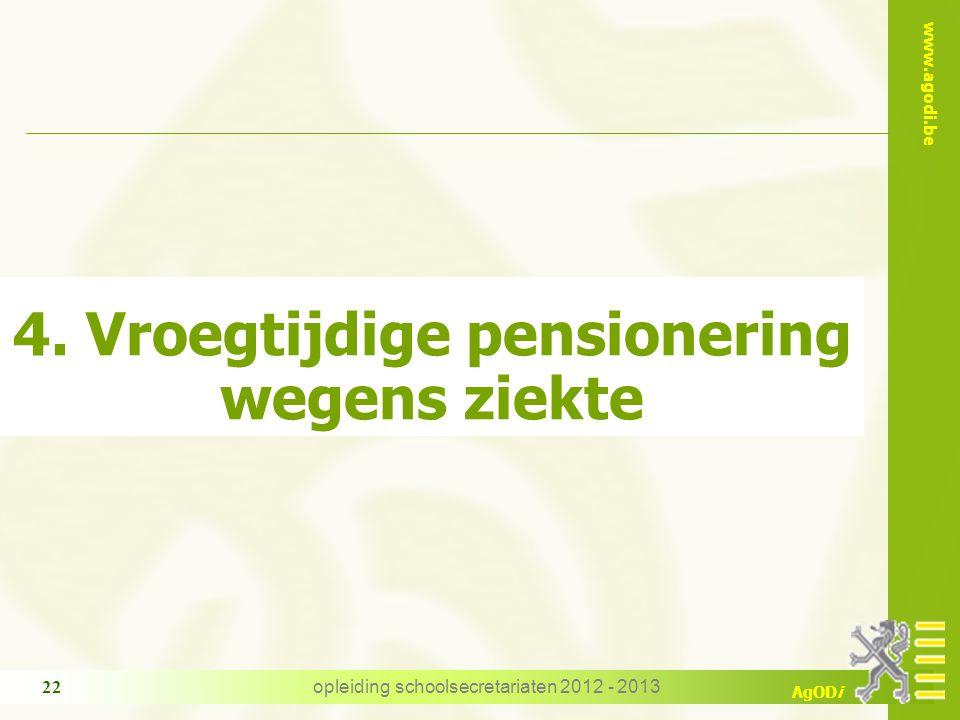 4. Vroegtijdige pensionering wegens ziekte