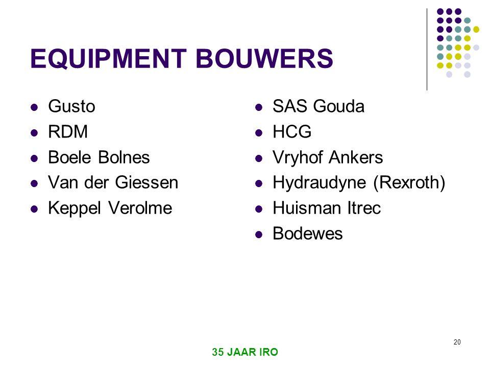 EQUIPMENT BOUWERS Gusto RDM Boele Bolnes Van der Giessen