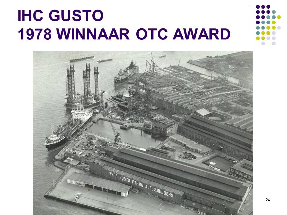 IHC GUSTO 1978 WINNAAR OTC AWARD