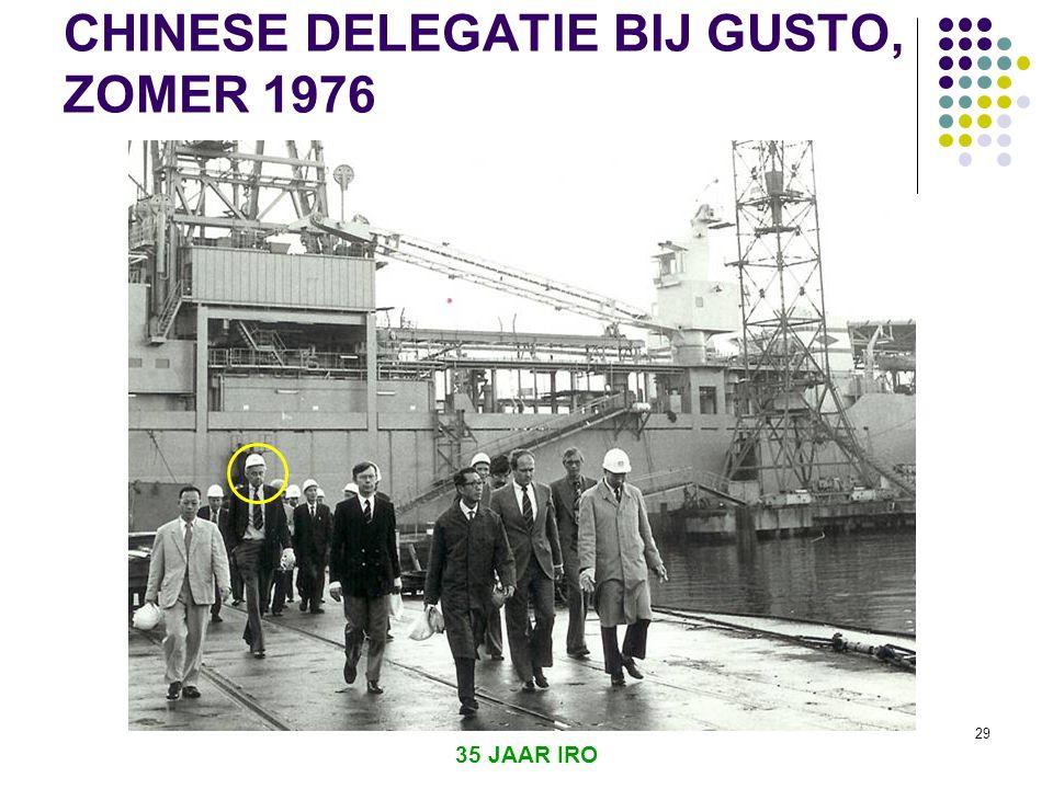 CHINESE DELEGATIE BIJ GUSTO, ZOMER 1976