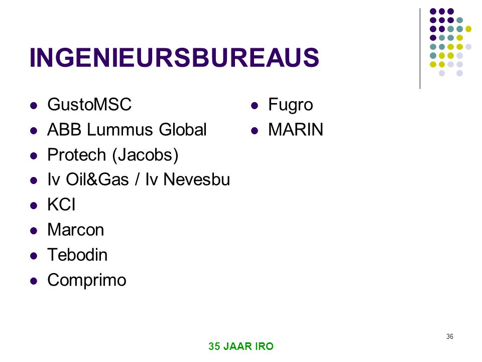 INGENIEURSBUREAUS GustoMSC ABB Lummus Global Protech (Jacobs)