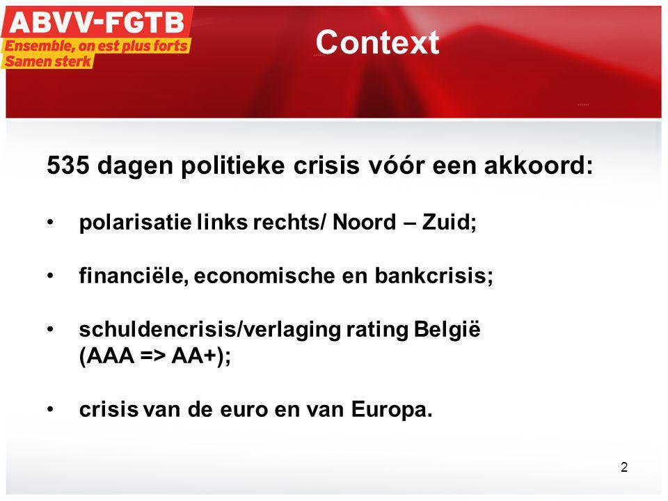 Context 535 dagen politieke crisis vóór een akkoord: