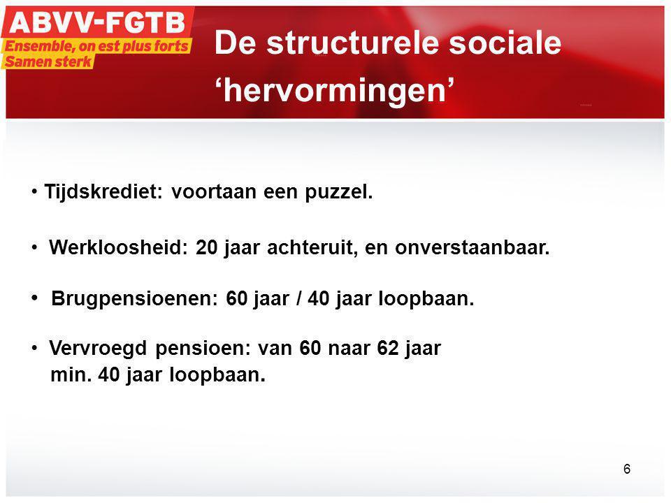 De structurele sociale 'hervormingen'