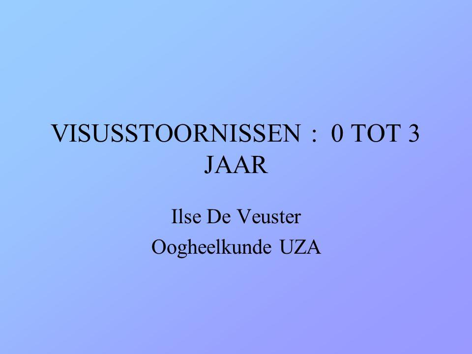 VISUSSTOORNISSEN : 0 TOT 3 JAAR