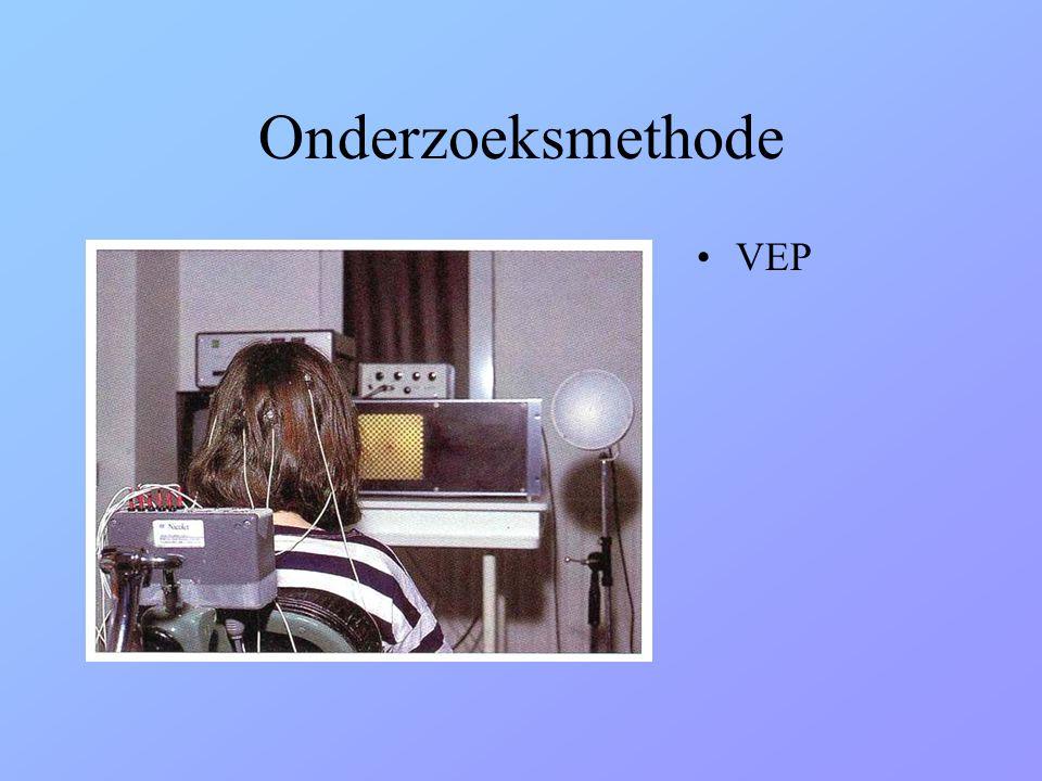 Onderzoeksmethode VEP Nervus opticus functie :