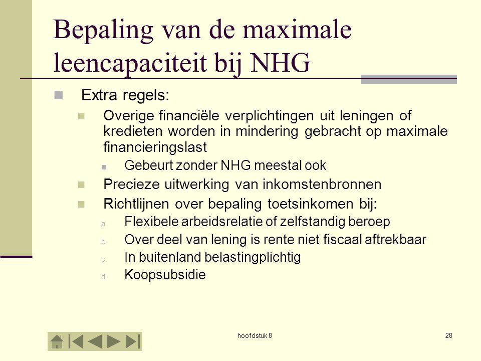 Bepaling van de maximale leencapaciteit bij NHG