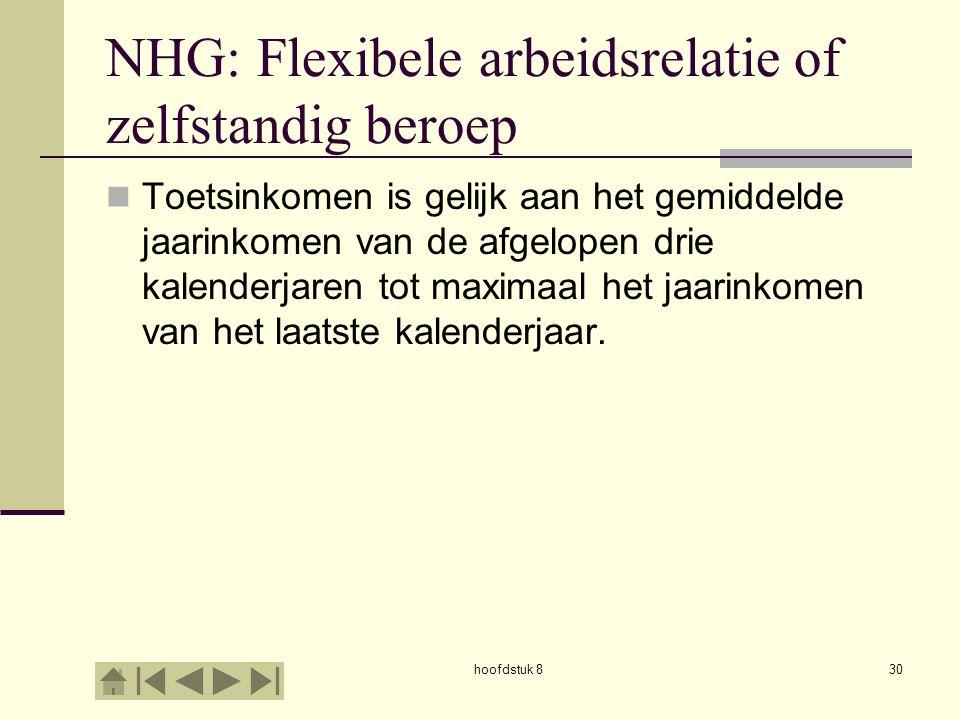 NHG: Flexibele arbeidsrelatie of zelfstandig beroep