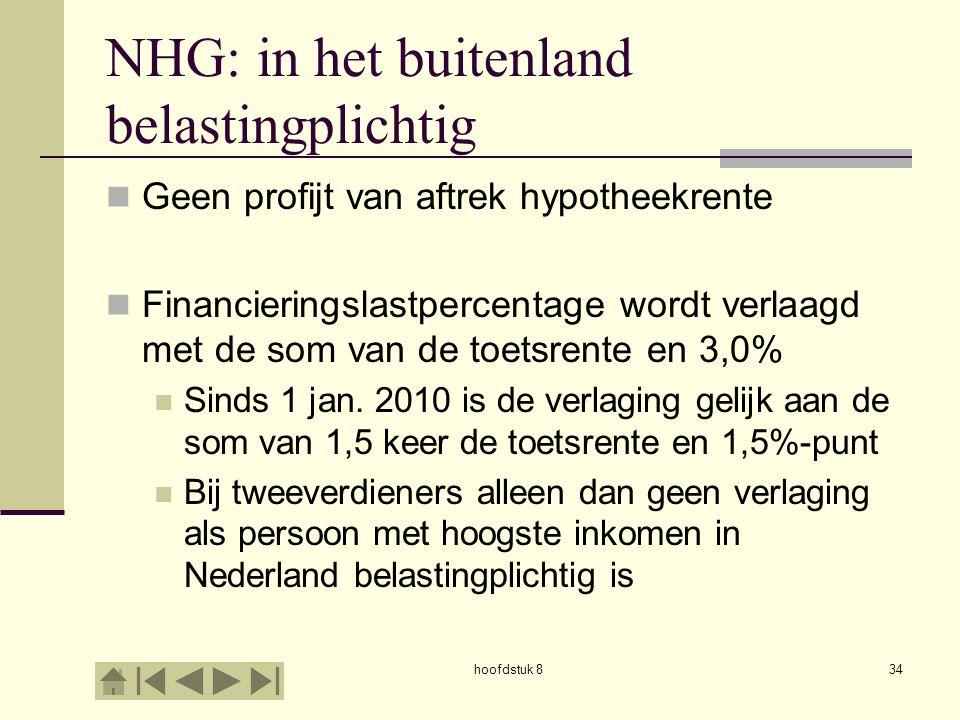 NHG: in het buitenland belastingplichtig