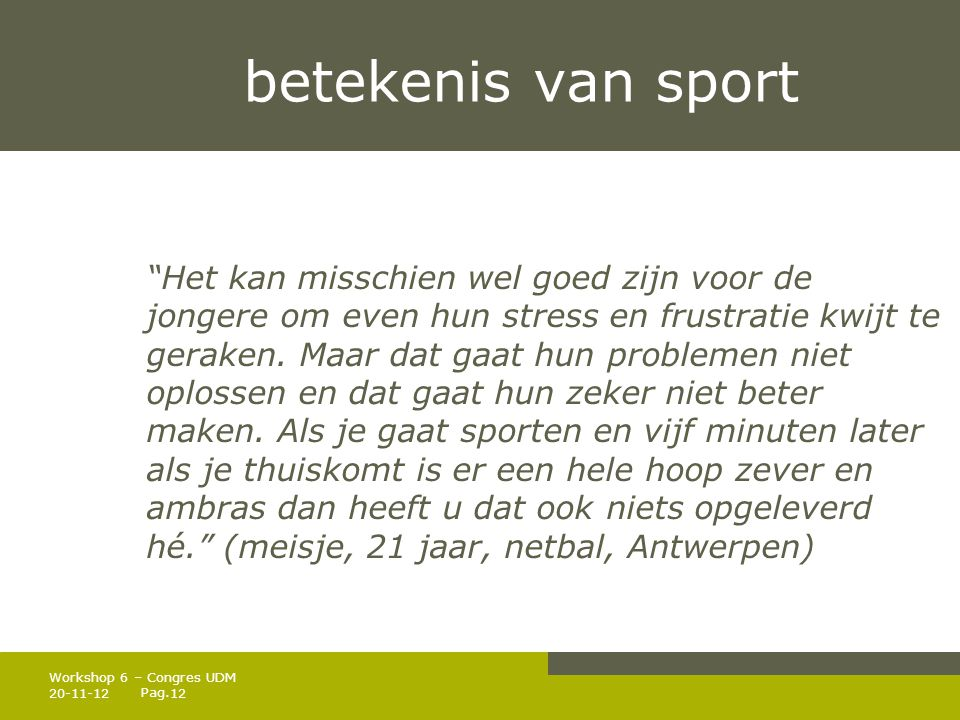betekenis van sport