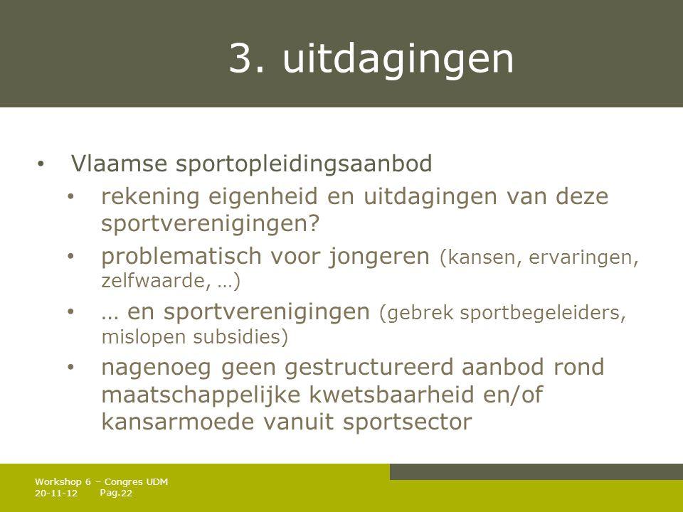 3. uitdagingen Vlaamse sportopleidingsaanbod