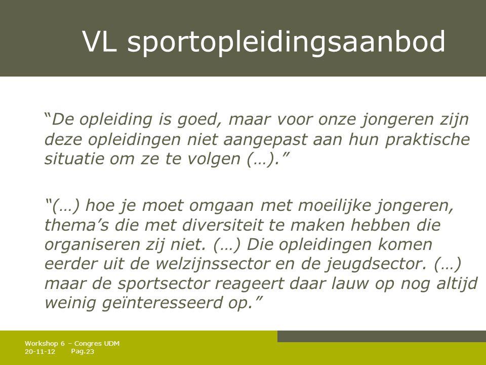 VL sportopleidingsaanbod