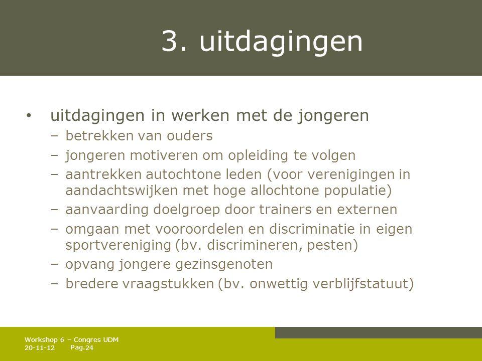 3. uitdagingen uitdagingen in werken met de jongeren